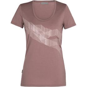 Icebreaker Tech Lite SS Scoop Shirt St Anton Women, brązowy
